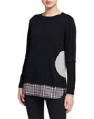 Lisa Todd Plus Size Crewneck Dot Intarsia Sweater