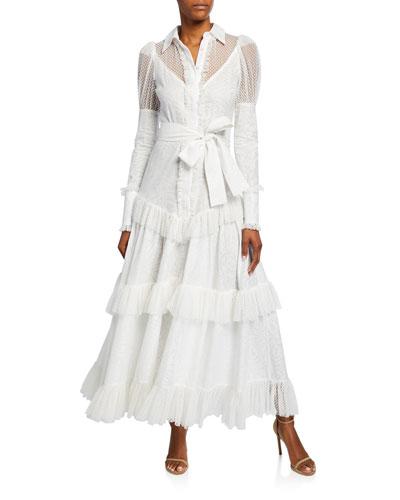 Evarra Tiered Lace Maxi Dress