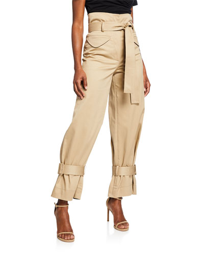 Vicente High-Rise Belted Cargo Pants