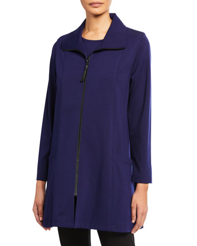 Petite Zip-Front Ponte Luxe Walking Jacket
