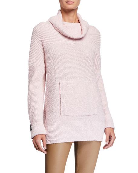 Pure & Co Seize The Day Pretty In Pink Cowl-Neck Sweater