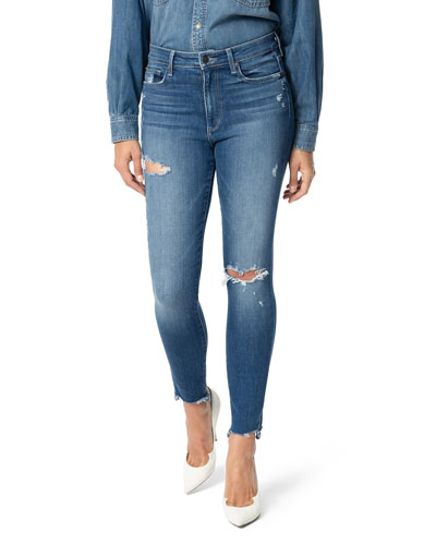 The Charlie Distressed Ankle Skinny Jeans