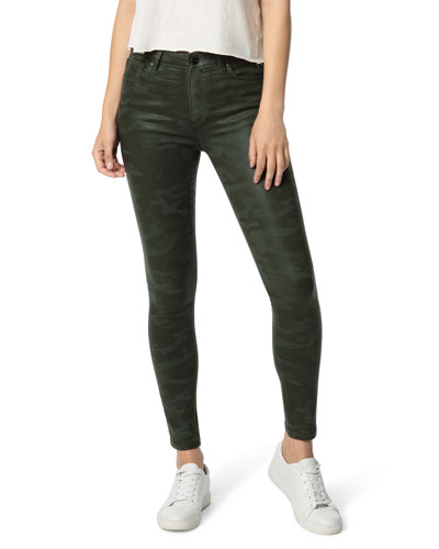 The Icon Ankle Skinny Coated Jeans
