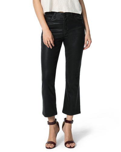The Callie Button Fly Boot-Cut Jeans