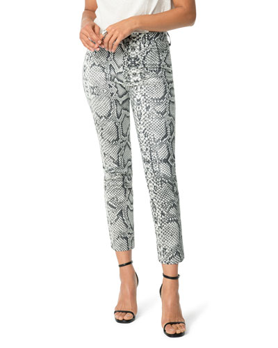 The High Rise Cigarette Snake-Print Jeans