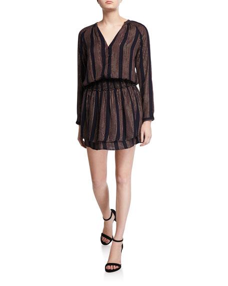 Rails Jasmine Metallic-Stripe Dress