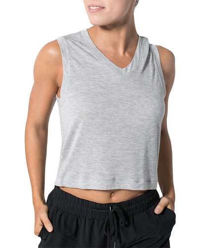 Miami Hit V-Neck Cropped Tee