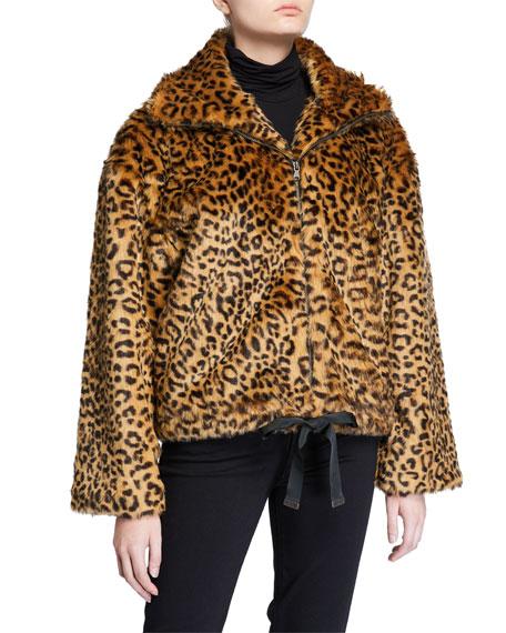 Rebecca Minkoff Brigit Leopard Faux-Fur Jacket