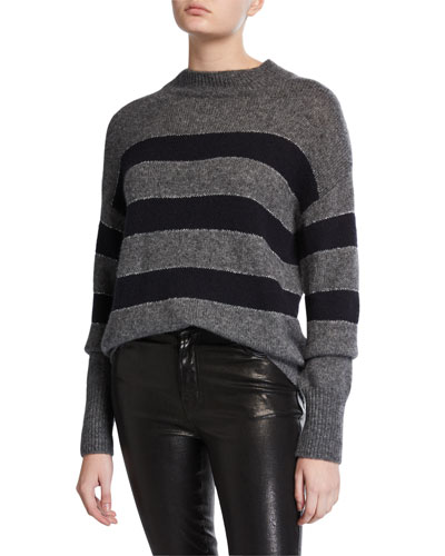 Ellise Metallic-Stripe Sweater