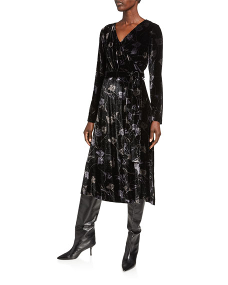 Diane von Furstenberg Tilla Collared Floral-Print Wrap Dress