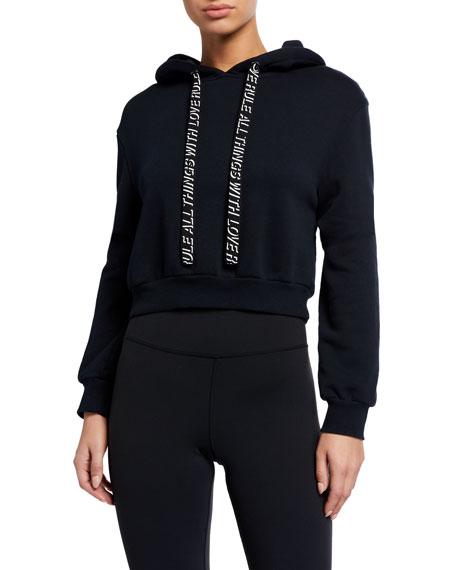 Pam & Gela Basic Crop Hoodie Sweatshirt