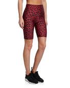 Onzie High Rise Leopard-Print Bike Shorts