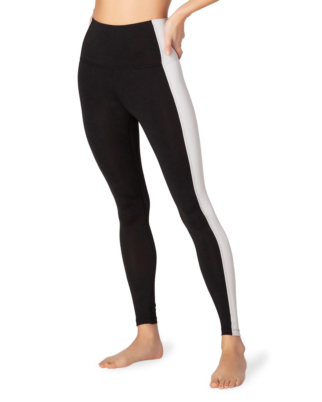 Beyond Yoga Pants TO THE FRAME HIGH-WAIST SIDE STRIPE LEGGINGS
