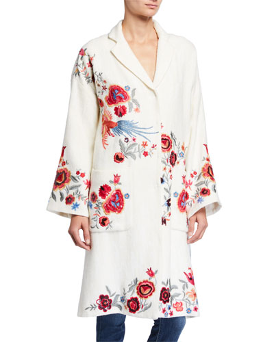 Petite Ovadio Embroidered Coat
