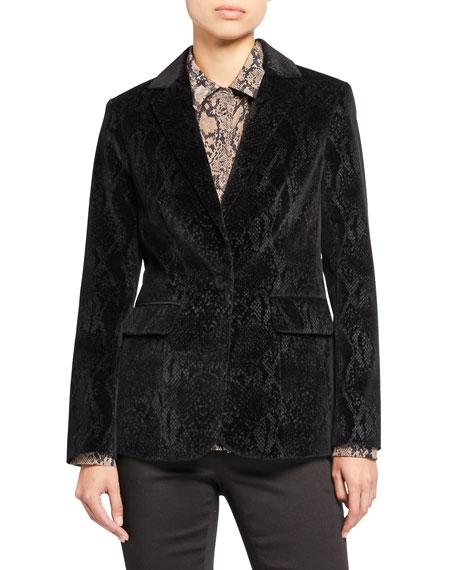 FRAME Velvet Python Classic Blazer