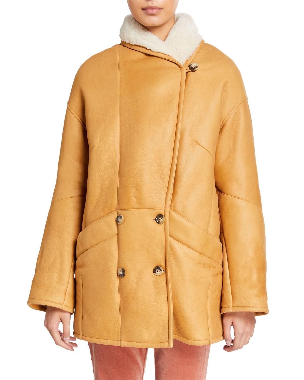 Frame Coats COCOON SHEARLING COAT