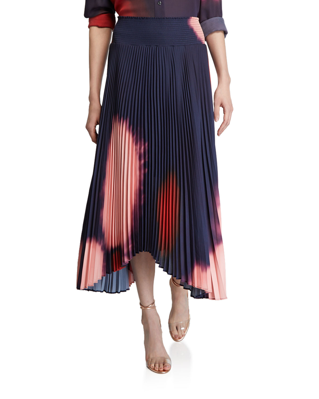 A.l.c Skirts SONALI PLEATED TIE-DYE ASYMMETRIC SKIRT