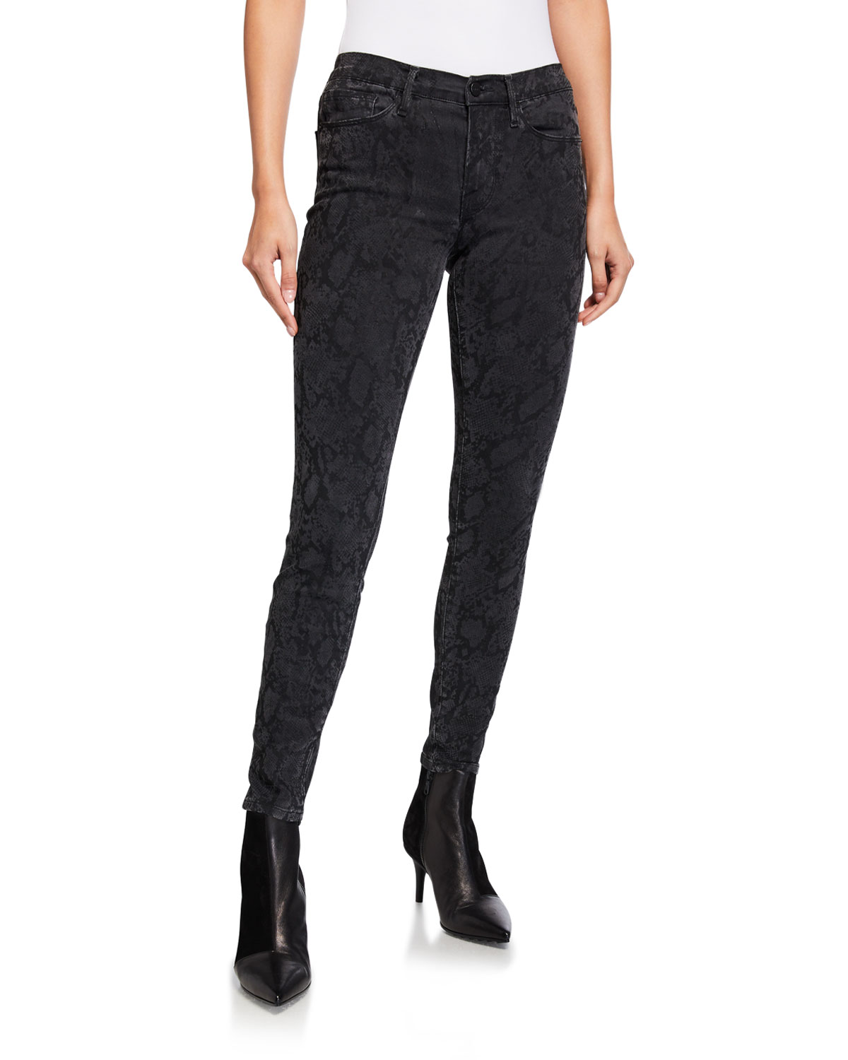 Frame Jeans LE SKINNY DE JEANNE MID-RISE ANKLE JEANS