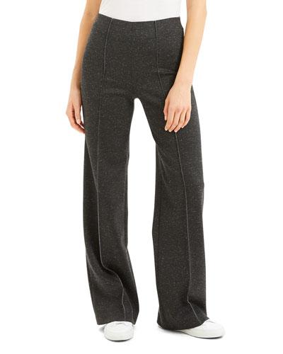 Wide-Leg Wool Pants