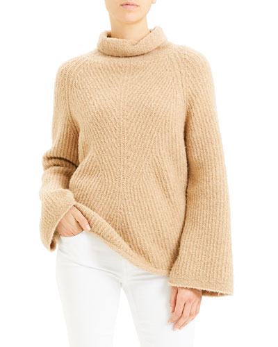 Moving Rib Turtleneck Sweater