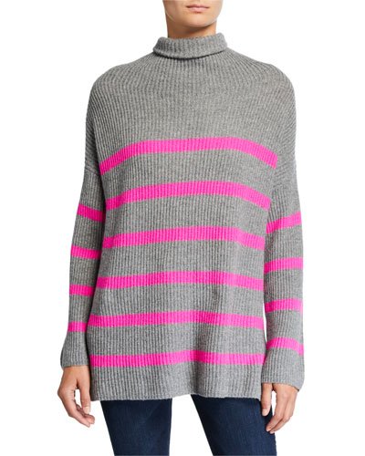 Breton Striped Funnel-Neck Sweater