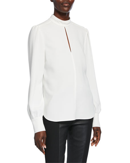 A.L.C. Marina Mock-Neck Top