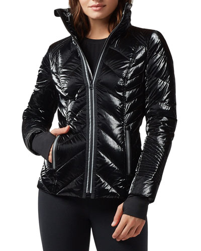 Super Hero Puffer Jacket with Reflective Trim