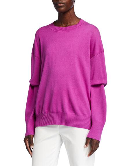 St. John Collection Extra Fine Merino Wool Knit Crewneck Sweater