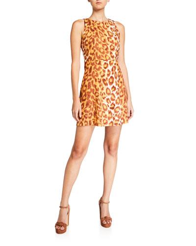 panthera sleeveless mini ponte dress