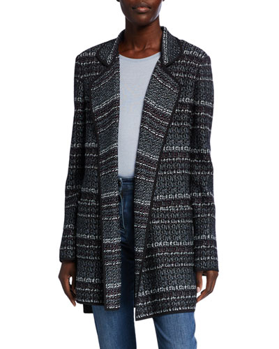 Textured Boucle Tweed Knit Jacket