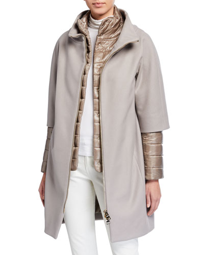 Top Coat w/ Padded Underlay & Zip-Out Sleeves