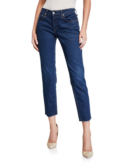 Rag & Bone Dre Low-Rise Slim Ankle Boyfriend Jeans