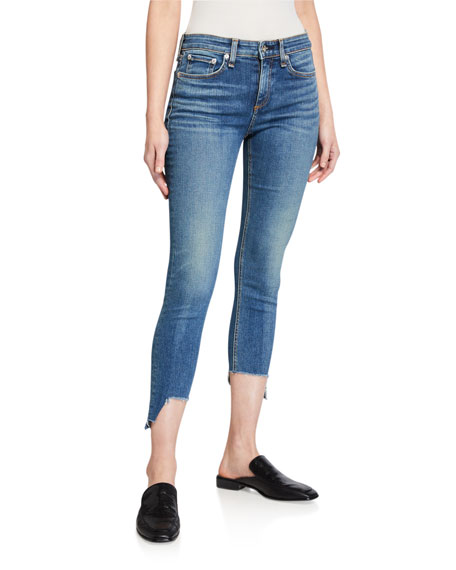 Rag & Bone Cate Mid-Rise Skinny Jeans with Step-Hem
