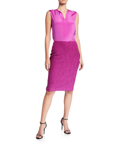 St. John Collection Belle Du Jour Knit Pencil Skirt