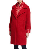 Herno Quilted-Underlay Wool Coat