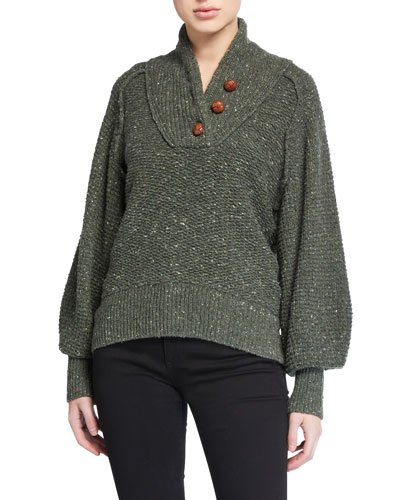 Klark Button-Front Sweater