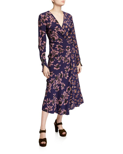 Odette Floral-Print Long-Sleeve Dress