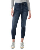DL1961 Premium Denim Chrissy Ultra High-Rise Skinny Ankle