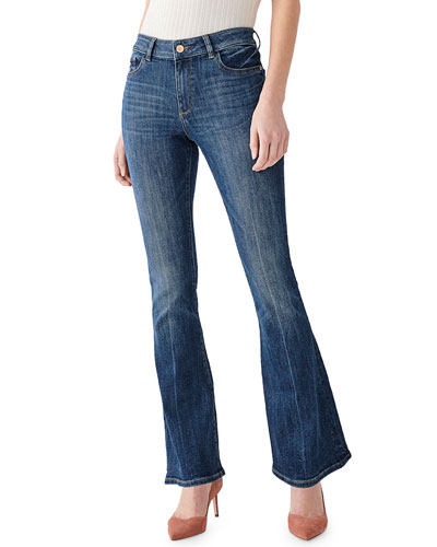 Bridget High-Rise Boot-Cut Jeans