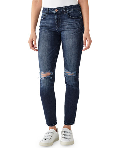 Florence Mid-Rise Skinny Ankle Jeans