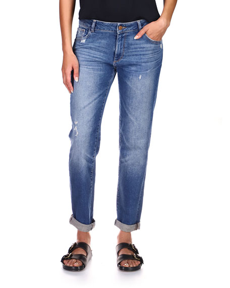 DL1961 Premium Denim Riley Mid-Rise Boyfriend Jeans