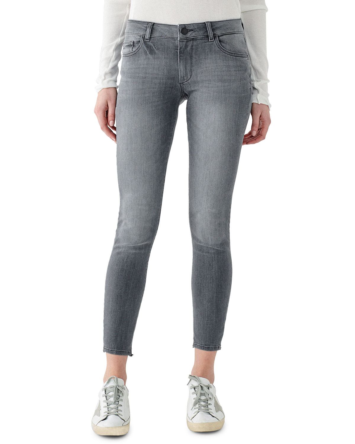 Emma Low-Rise Cropped Skinny Jeans