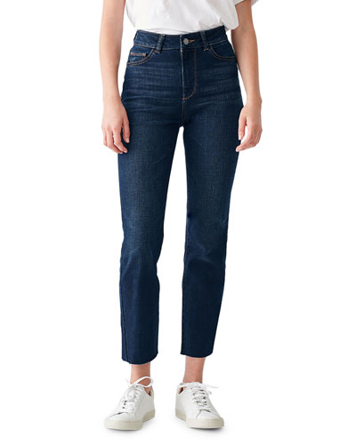 Mara High-Rise Straight Ankle Jeans