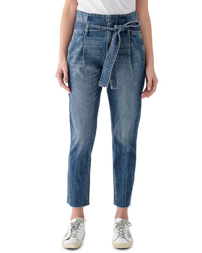 Susie High-Rise Tapered Ankle Jeans