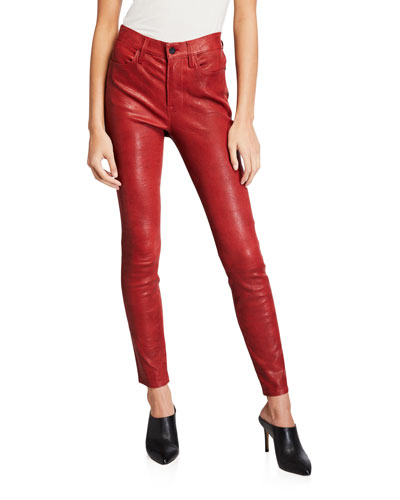 Le High Skinny Crop Leather Pants