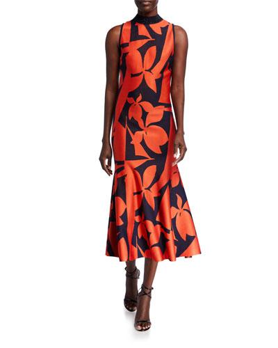 Patio Floral Jacquard Knit Dress