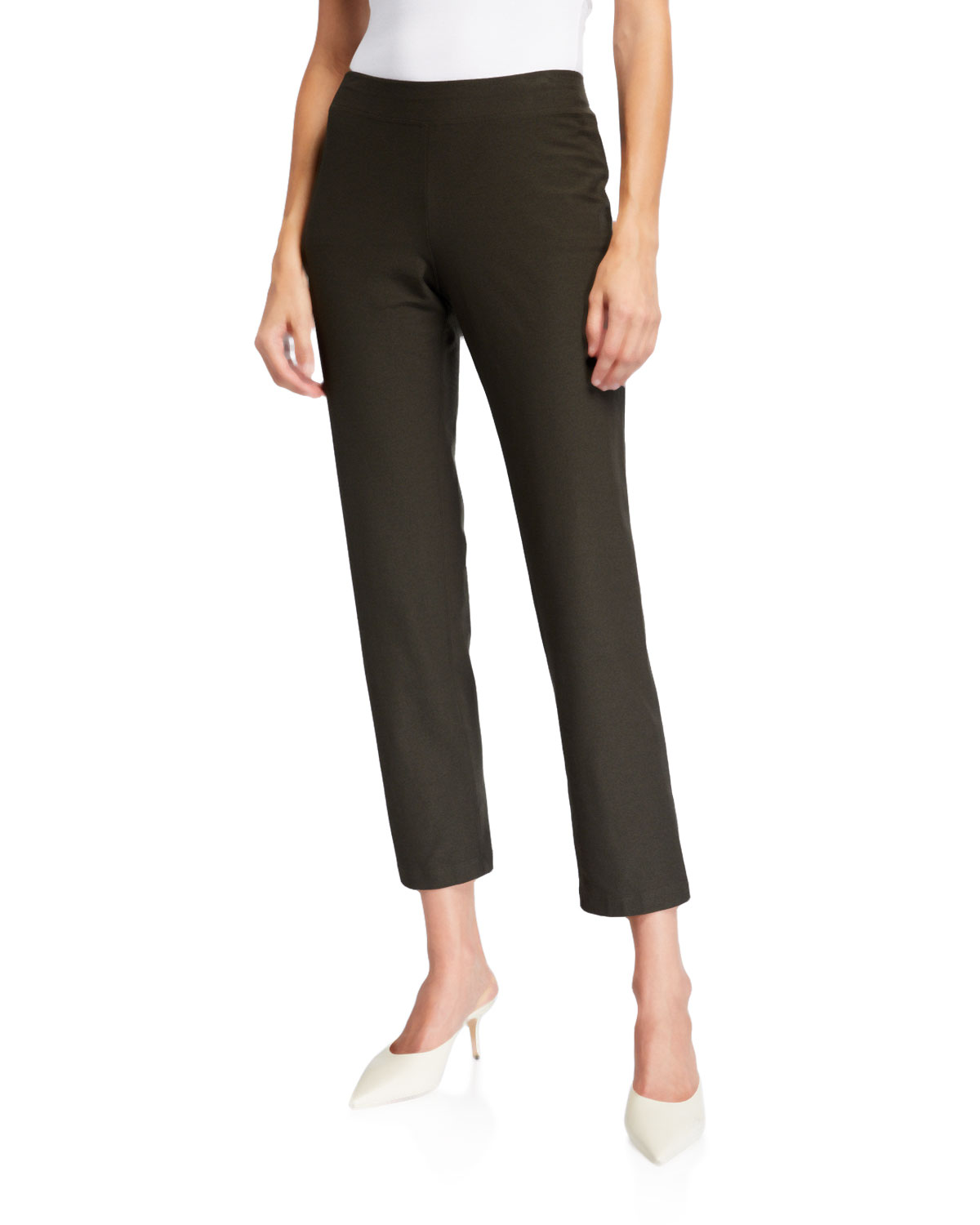 Eileen Fisher Pants PLUS SIZE SLIM STRETCH CREPE ANKLE PANTS