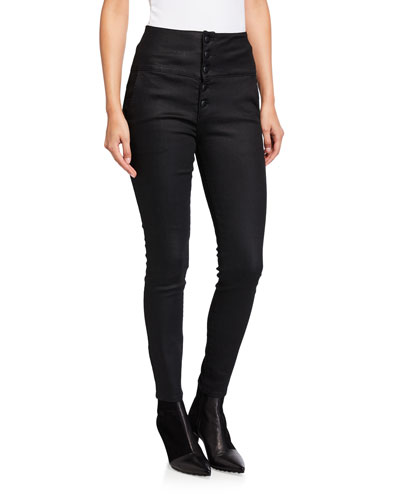 Tux Noir Band Skinny Jeans with Button Fly