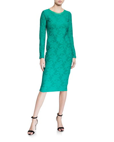 Tadashi Shoji Women/'s Sequined Lace 3//4 Bell Sleeve Fitted Mini Dress
