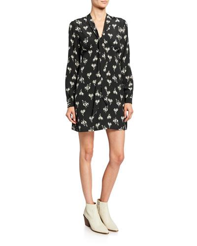60s Printed Bow Dress